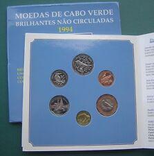 """Cape Verde 1994 """"Bird Fauna"""" Escudo - 100 Escudos 6 Coins Mint Set UNC"""