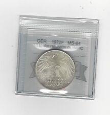 **1972F**Germany, Munich Olympics10 Mark, Coin Mart Graded **MS-64**