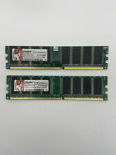 2pc 1GB For Kingston DDR1 400Mhz PC3200 2.5 184Pin Low Density Desktop Memory ms