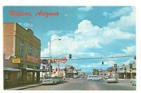 Postcard Willcox AZ Arizona   Street  View   Rexall  Standard Gas  1950s Cars