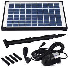 Agora-Tec® 10 Watt Solar Teichpumpe Springbrunnen Teich Pumpe Springbrunnenpumpe
