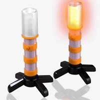 2x LED Emergency Road Flares Roadside Beacon Safety Strobe Light Warn Orange