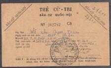 Vietnam War Era RVN Congress Voting Card 1963