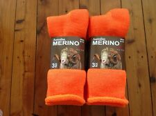 6 PAIRS HEAVY DUTY AUSTRALIAN MERINO EXTRA THICK WOOL WORK SOCKS HI VIS ORANGE