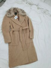 Ladies Long maxi Camel Winter Faux Fur Coat,bnwt,Next,s 12,work commute,occasion