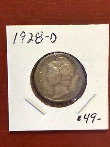 1928-D Mercury Dime Higher Grade