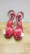 """Pin Up Culture / Red With White Polka Dots / 4"""" Stiletto - 1089"""