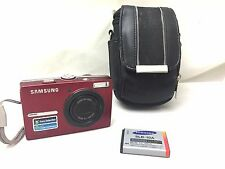 Samsung L200 Digital Camera 10.2 MP 3x Optical Zoom RED w Battery and Case