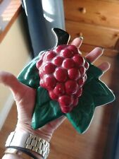 VTG LARGE PAIR OF GRAPE CLUSTER FRUIT WALL POCKETS VERY NICE RARE