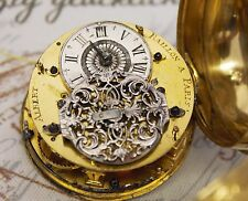 Rare Albert Baillon Paris um 1720 Oignon Spindel Taschenuhr verge pocket watch