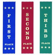 School Pack Lrg: 600 Each First Second Third Ribbons - Free Post & 15% discount!