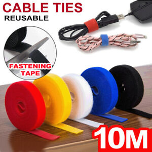 Hook & Loop Reusable Fastening Nylon Cable Magic Ties Wire Cord Straps Organizer