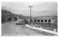 1953 Parker Dam Colorado River California RPPC real photo postcard 6325