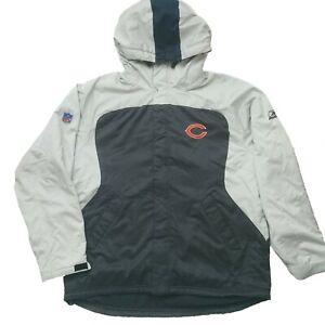 Reebok NFL Chicago Bears Mens Fleece Lined Jacket Coat Parka Snow Size Large