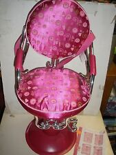 "PINK BEAUTY SALON CHAIR Our Generation by Battat fits AMERICAN GIRL 18"" doll"