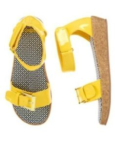 NWT Gymboree Yellow and Black Yellow Patent Wedge Buckle 11 Girls