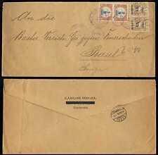 GUATEMALA 1901 Sc 122 & 127 PAIRS COVER TO SWITZERLAND