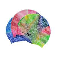 New Women's Adult Aqua Sprint 100% Soft Silicone Swim Cap