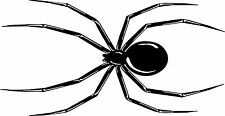 Black Widow Spider Car Bike Motorcycle Vinyl Graphic Sticker Decal