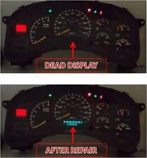 99 00 01 02 Silverado Sierra Tahoe Instrument Cluster Speedometer Display Repair