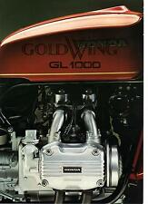 1975 Honda GL1000 Gold Wing  8 page Motorcycle Brochure NCS