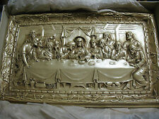 THE  LAST  SUPPER  CHALKWARE  PLAQUE MFG. ADAM MELDRUM & ANDERSON 15X10'' MIB !