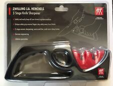 ZWILLING J.A. Henckels 2-Stage Knife Sharpener 32603-301 CERAMIC Sharpening! NEW