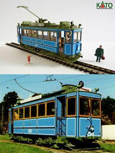 Munich Rathgeber 1901 tram HO/N gauge (HOe) - motorized with figures KATO ATLAS