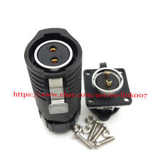 IP67 2Pins Waterproof Connector 20A Reversal Type Industrial Bulkhead Connector
