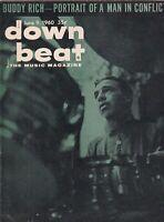 Down Beat Mag Buddy Rich Gerry Mulligan June 9, 1960 101219nonr