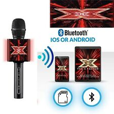 X Factor Karaoke Bluetooth Microphone Speaker With LEDs Light & Echo Function