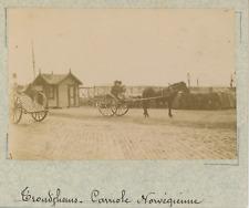 Norvège, Trondheim, une carriole Norvégienne  vintage albumen print,Photos pro