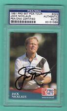 JACK NICKLAUS 1991 PRO LINE GOLF PGA TOUR AUTOGRAPH PSA AUTHENTIC ON CARD AUTO