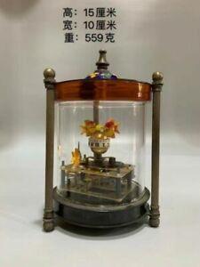 Exquisite Brass Classical Mechanical Clock Glass Fish tank Shape Clock LP059