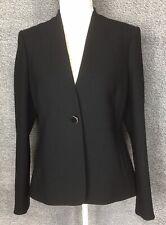 LK BENNETT UK 12 Black Jacket Button Closure Wool Blend Business Office Smart