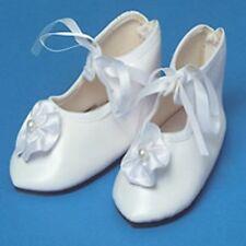 1 paire chaussure blanche à ruban 3,50/1.50cm pour poupée ancienne contemporaine