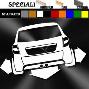 adesivo sticker AIXAM CITY microcar tuning down-out dub prespaziato,auto