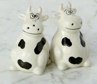 NEW Holstein Cow Salt And Pepper Shakers Perfect Gift