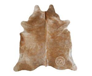 Genuine Cowhide Rug Beige Palomino Exotic 5ft x 6ft - 150cm x 180cm