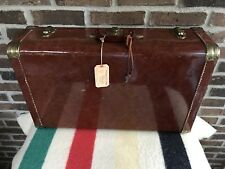 RARE  VINTAGE 1950's ALUMINUM LEATHER LOOKING CAR LUGGAGE RACK SUITCASE R$1698