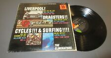"""THE ELIMINATORS """" LIVERPOOL, DRAGSTERS, CYCLES & SURFING"""" ORIG 64 STEREO LP SURF"""