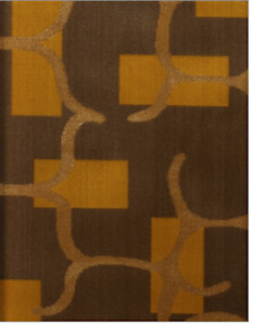 2.625 yds Designtex Attush Sumac Orange Deco Velvet Upholstery Fabric GX1