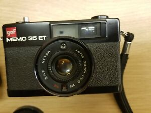 RARE GAF MEMO 35ET XYTAR 38MM LENS CAMERA IN ORIGINAL CASE