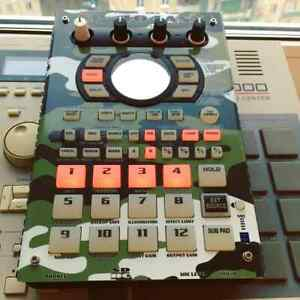 Military vinyl skin for Roland SP-404A or SX