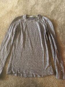 Smartwool womens medium gray long sleeve wool shirt b8