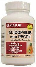 Major Acidophilus with Pectin Capsules ( 75 mil / cap ) 100 ct