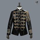 Renaissance Medieval Mens Sequins Jacket King Prince Royal Court Cosplay Costume
