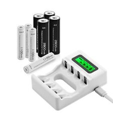 NEW 4pcs AA and 4pcs AAA Rechargeable Batteries + AA AAA Universal USB Charger