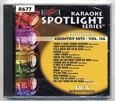 SOUND CHOICE KARAOKE SC-8677 COUNTRY HITS, NEW FACTORY SEALED SPOTLIGHT CD+G OOP
