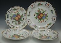GODINGER YORKSHIRE FRUITS INSECTS SET OF 4 PIECES DINNER SALAD PLATE SOUP BOWLS